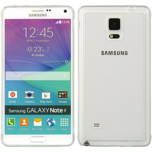 Insten Hard TPU Case For Samsung Galaxy Note 4, White/Clear