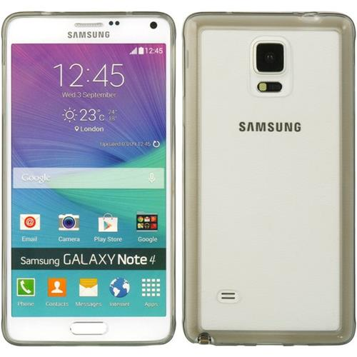 Insten Hard TPU Cover Case For Samsung Galaxy Note 4, Smoke/Clear