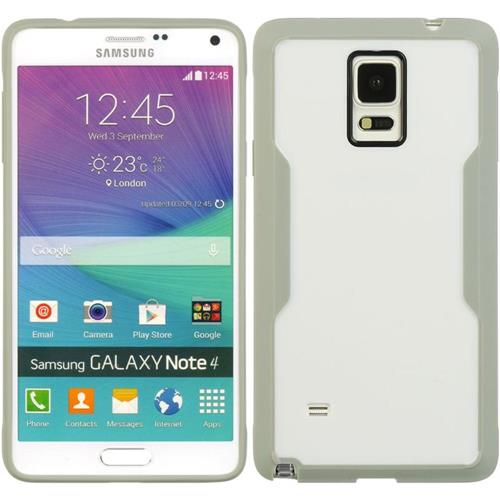 Insten Hard TPU Case For Samsung Galaxy Note 4, Gray