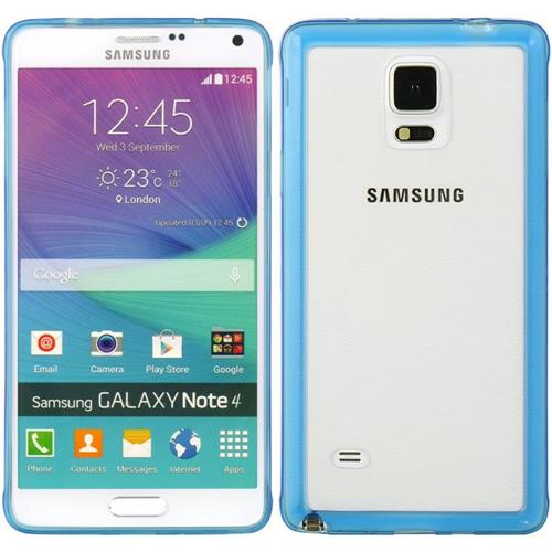 Insten Hard TPU Case For Samsung Galaxy Note 4, Blue/Clear