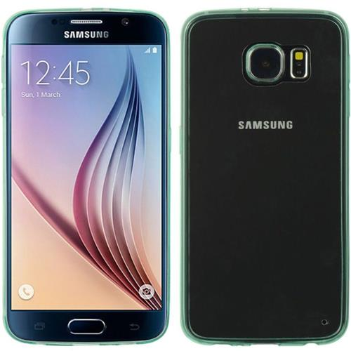 Insten Rubber Cover Case For Samsung Galaxy S6, Teal/Clear