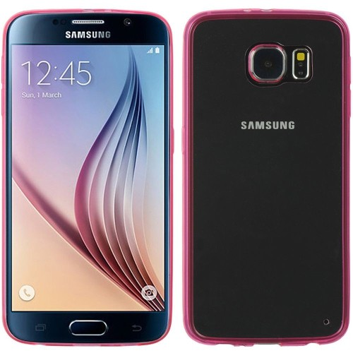 Insten TPU Case For Samsung Galaxy S6, Hot Pink/Clear