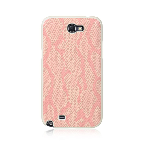 Insten Snake Hard Rubber Coated Cover Case For Samsung Galaxy Note II, Pink