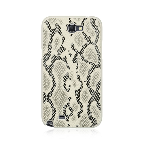 Insten Snake Hard Rubber Coated Case For Samsung Galaxy Note II, Gray