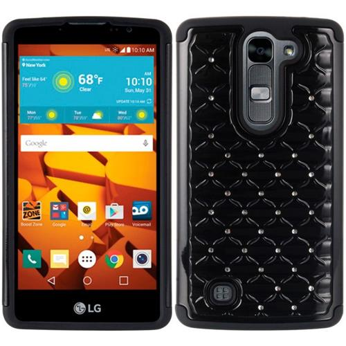 Insten Fish Scale Hard Dual Layer TPU Cover Case w/Diamond For LG Volt 2, Black