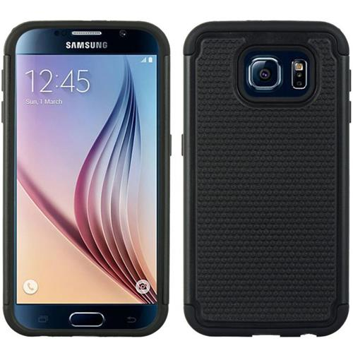 Insten Dots Hard Dual Layer TPU Cover Case For Samsung Galaxy S6, Black