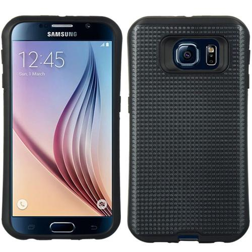 Insten Dots Hard Hybrid TPU Case For Samsung Galaxy S6, Black