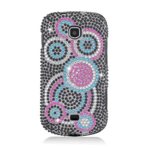 Insten Circles Hard Bling Case For Samsung Galaxy Stellar 4G I200, Black/Pink