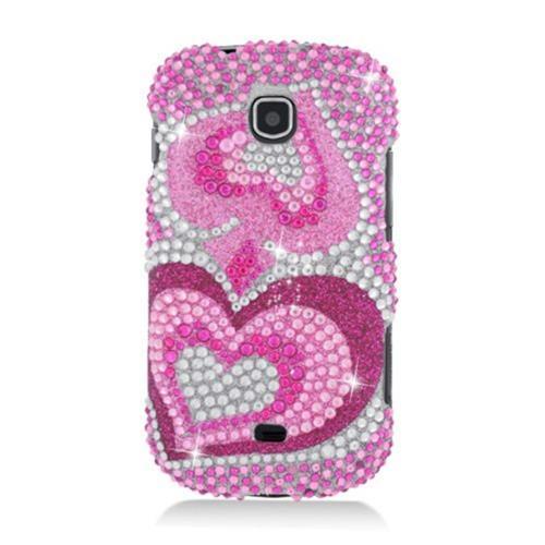 Insten Hearts Hard Bling Case For Samsung Galaxy Stellar 4G I200, Hot Pink