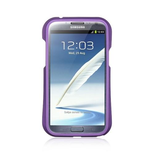 Insten Hard TPU Case For Samsung Galaxy Note II, Purple/Black