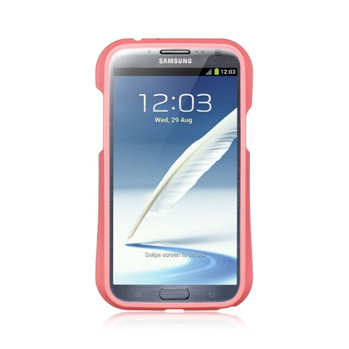 Insten Hard TPU Cover Case For Samsung Galaxy Note II, Pink/Black