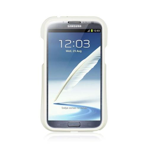 Insten Hard TPU Case For Samsung Galaxy Note II, White/Black