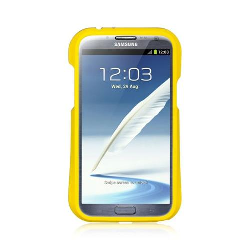 Insten Hard TPU Case For Samsung Galaxy Note II, Yellow/Black