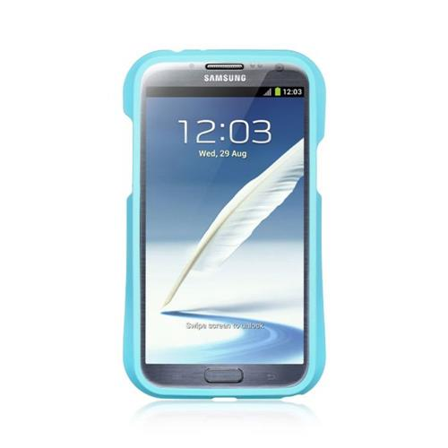 Insten Fitted Soft Shell Case for Samsung Galaxy Note 2 - Light Blue;Black