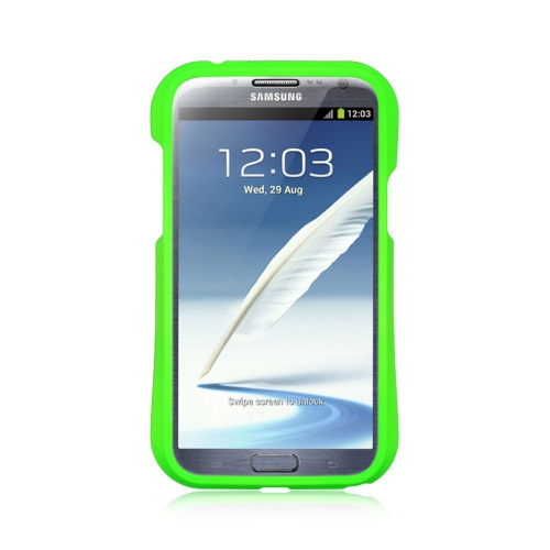 Insten Hard TPU Case For Samsung Galaxy Note II, Green/Black