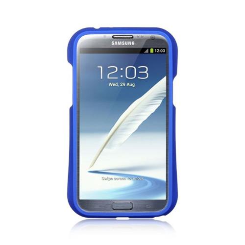 Insten Hard TPU Cover Case For Samsung Galaxy Note II, Dark Blue/Black
