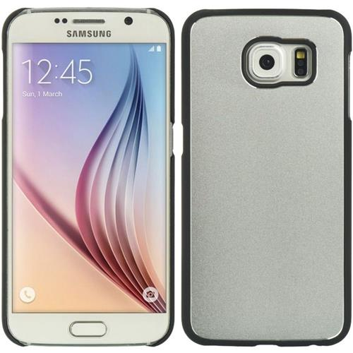 Insten Hard Metallic Case For Samsung Galaxy S6, Silver/Black