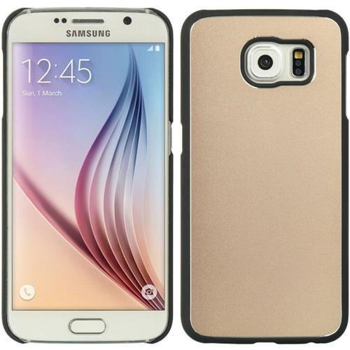 Insten Hard Metallic Case For Samsung Galaxy S6, Gold/Black