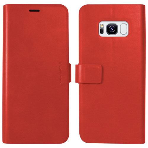 Étui folio Finura de Viva Madrid pour Galaxy S8 de Samsung - Rouge