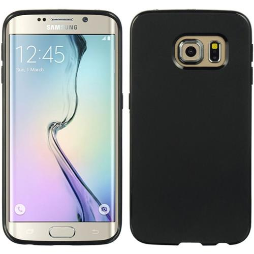 Insten Rubber Cover Case For Samsung Galaxy S6 Edge, Black