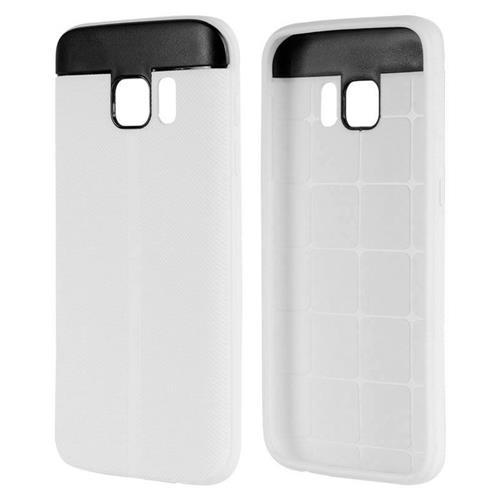 Insten Rubber Case For Samsung Galaxy S7, White/Black