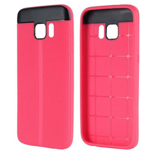 Insten Gel Cover Case For Samsung Galaxy S7, Hot Pink/Black