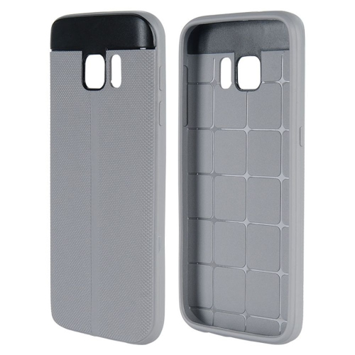 Insten Fitted Soft Shell Case for Samsung Galaxy S7 - Black; Gray