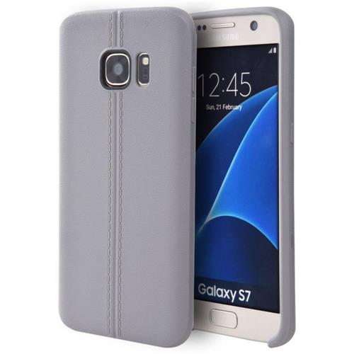 Insten Fitted Hard Shell Case for Samsung Galaxy S7 - Gray
