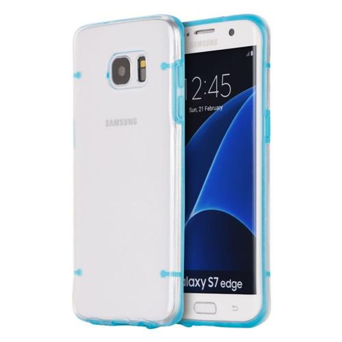 Insten Hard TPU Cover Case For Samsung Galaxy S7 Edge, Clear/Blue