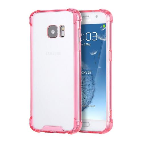 Insten Gel Cover Case For Samsung Galaxy S7, Clear/Hot Pink