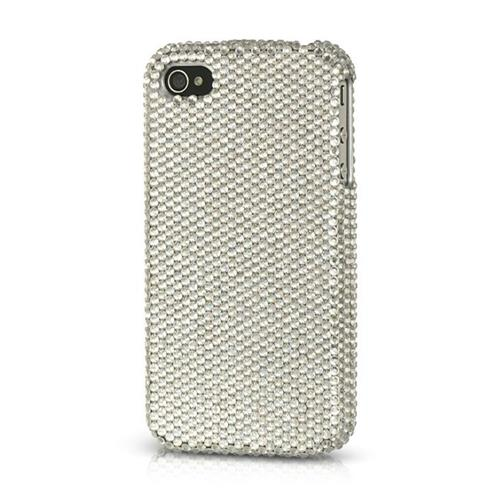 Insten Hard Diamond Cover Case For Apple iPhone 4/4S, Silver
