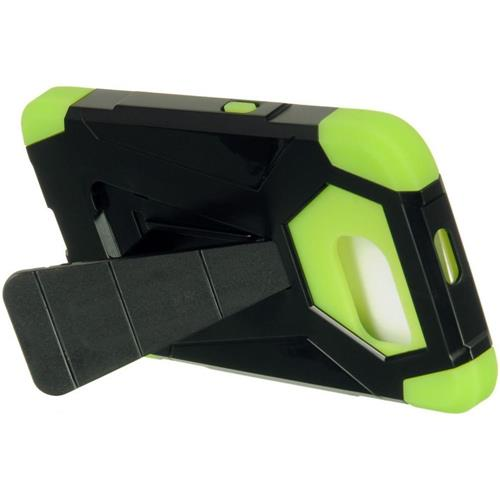 Insten Hard Hybrid Plastic TPU Case w/stand For Samsung Galaxy S6, Black/Green