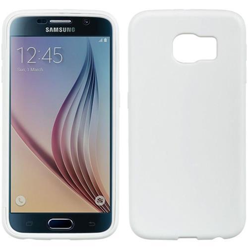 Insten TPU Case w/Installed For Samsung Galaxy S6, White