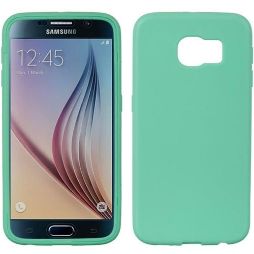 Insten Rubber Case w/Installed For Samsung Galaxy S6, Teal