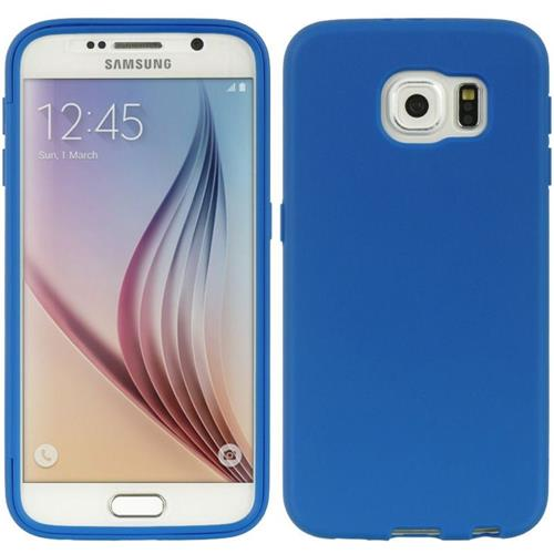 Insten Gel Cover Case w/Installed For Samsung Galaxy S6, Navy Blue