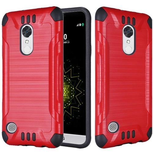 Insten Hard Hybrid Rubberized Silicone Case For LG Grace 4G/Harmony/K20 Plus/K20 V, Red