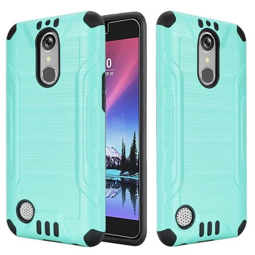 Insten Hard Dual Layer Silicone Case For LG Grace 4G/Harmony/K20 Plus/K20 V, Teal/Black