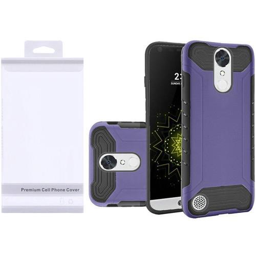 Insten Hard Dual Layer TPU Cover Case For LG Grace 4G/Harmony/K20 Plus/K20 V, Purple/Black