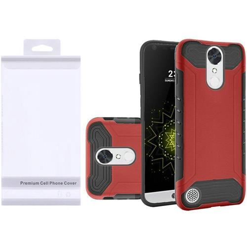 Insten Hard Hybrid TPU Case For LG Grace 4G/Harmony/K20 Plus/K20 V, Red/Black