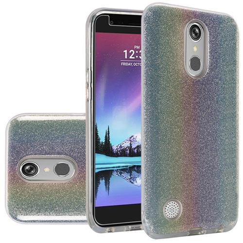 Insten Hard Dual Layer Glitter TPU Case For LG Grace 4G/Harmony/K20 Plus/K20 V, Colorful