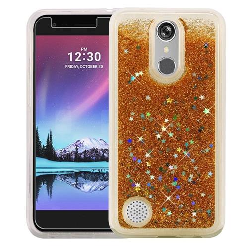 Insten Quicksand Hard Glitter Cover Case For LG Grace 4G/Harmony/K20 Plus/K20 V, Gold