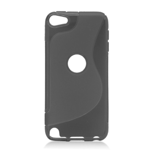 Insten S Shape TPU Clear Cover Case For Apple iPod Touch 5th Gen, Black