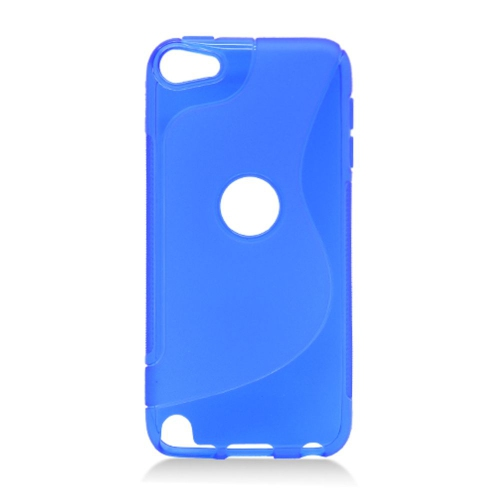 Insten S Shape Gel Clear Cover Case For Apple iPod Touch 5th Gen, Blue