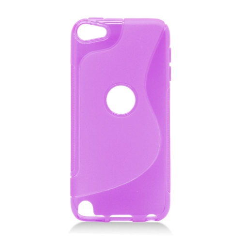 Insten S Shape Gel Transparent Case For Apple iPod Touch 5th Gen, Purple
