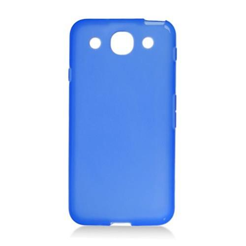 Insten Rubber Clear Case For LG Optimus G Pro E980, Blue