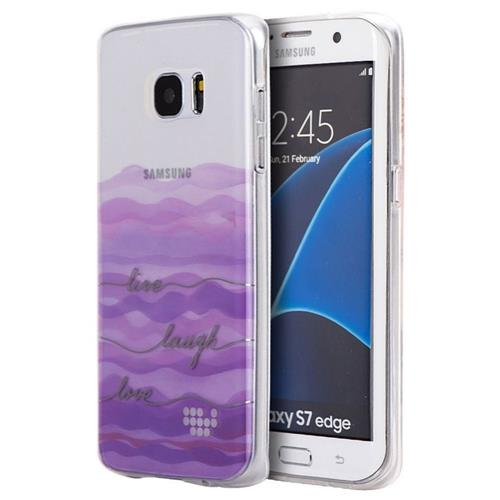 Insten Fitted Hard Shell Case for Samsung Galaxy S7 Edge - Purple; Clear