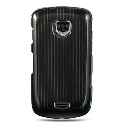 Insten Hard Rubber Coated Case For Samsung Droid Charge I510, Black