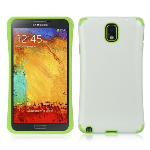 Insten Hard Plastic TPU Cover Case For Samsung Galaxy Note 3, White