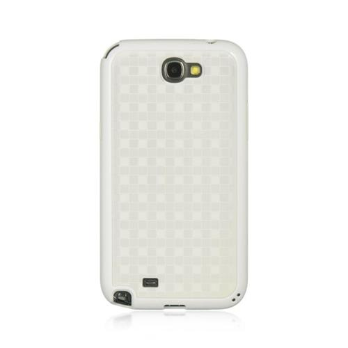 Insten Hard Rubber Coated Case For Samsung Galaxy Note II, White