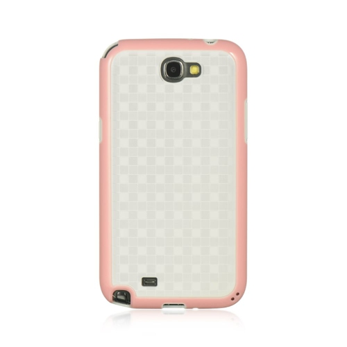 Insten Hard Case For Samsung Galaxy Note II, White/Pink
